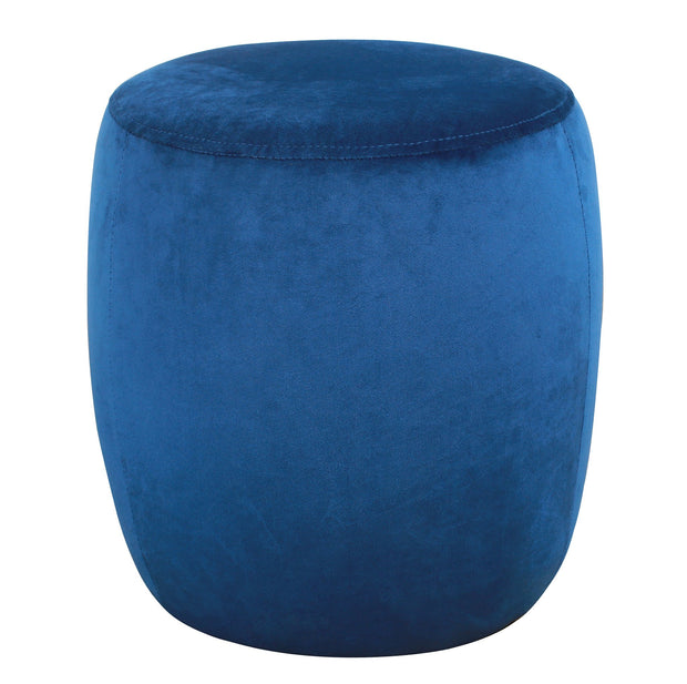 Willow Navy Velvet Ottoman from the TOV Slashed Collection  made from  in Navy featuring Part of the TOV Slashed collection and Sumptuous velvet upholstery