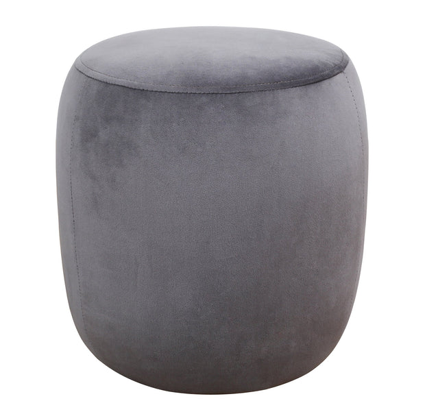 Willow Grey Velvet Ottoman from the TOV Slashed Collection  made from  in Grey featuring Part of the TOV Slashed collection and Sumptuous velvet upholstery