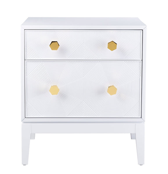 stunning white lacquer nightstand furniture. Mila Lacquer Side Table From The TOV Luxe Collection Made Wood, MDF In  Matte Stunning White Lacquer Nightstand Furniture