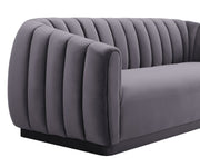 Arno Grey Velvet Sofa