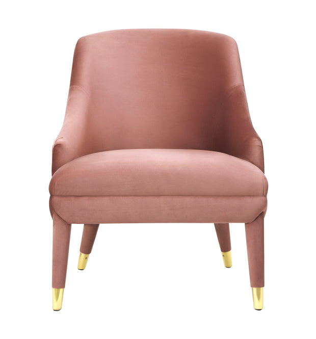 Orchid Velvet Chair made from Velvet, Stainless Steel in  featuring Handmade elegantly curved design and Durable yet sumptuous velvet upholstery
