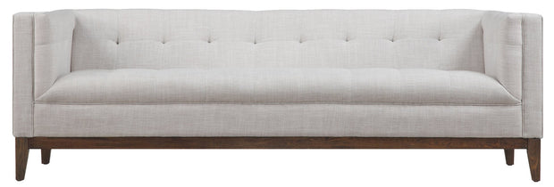 Gavin Beige Linen Sofa from the Gavin Collection  made from Linen in Beige featuring Classic Mid-Century design and Handmade by skilled furniture craftsmen