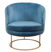 Bella Blue Velvet Chair