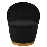 Julia Black Velvet Junior Chair from the TOV Slashed Collection  made from  in Black featuring Part of the TOV Slashed collection and Velvet upholstery is available in multiple color options