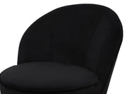 Julia Black Velvet Junior Chair