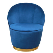 Julia Navy Velvet Junior Chair from the TOV Slashed Collection  made from  in Navy featuring Part of the TOV Slashed collection and Velvet upholstery is available in multiple color options
