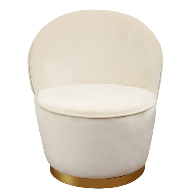 Julia Ivory Velvet Junior Chair from the TOV Slashed Collection  made from  in Ivory featuring Part of the TOV Slashed collection and Velvet upholstery is available in multiple color options