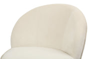 Julia Ivory Velvet Junior Chair