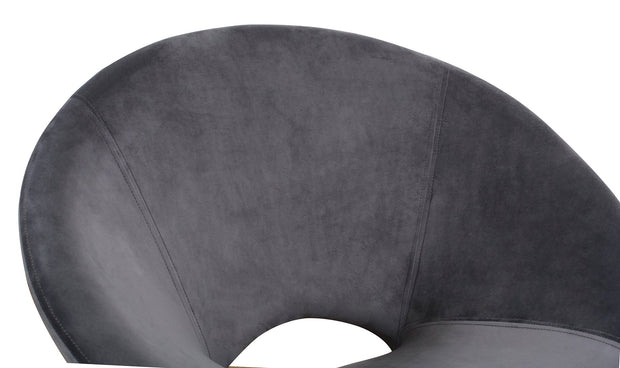 Nolan Grey Velvet Chair