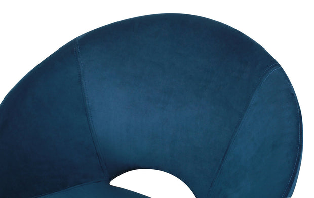 Nolan Navy Velvet Chair