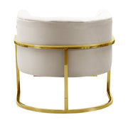 Magnolia Spotted Cream Chair with Gold Base