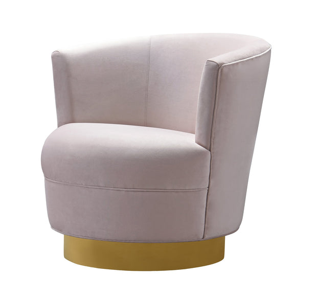 Noah Blush Velvet Swivel Chair