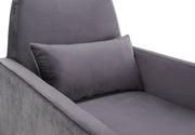 Danner Grey Velvet Chair