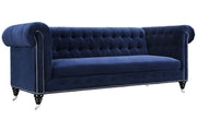 Hanny Navy Blue Velvet Sofa