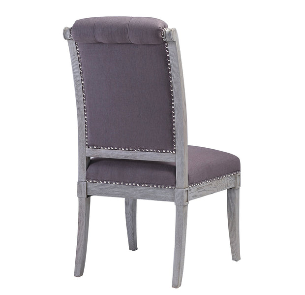 Addington Grey Linen Side Chair (Set of 2)