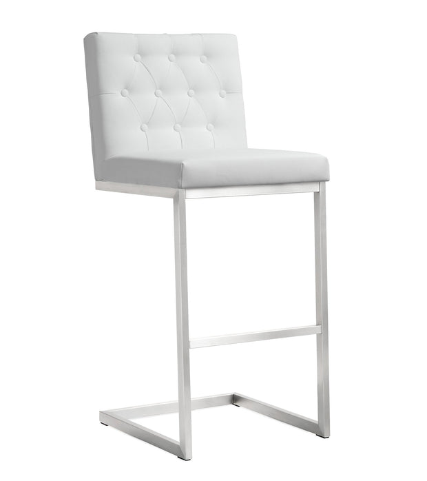 Helsinki White Steel Barstool (Set of 2)