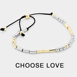 Choose Love Morse Code bracelet