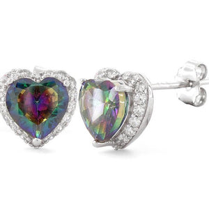 Mystic Topaz heart earrings