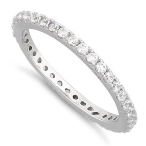 Eternity CZ Sterling Silver Ring