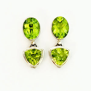 Green apple peridot earrings