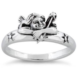 Angel Sterling Silver Ring