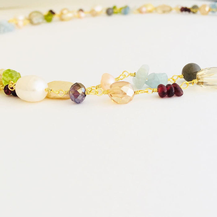 Autumn Sunshine Gemstone Necklace