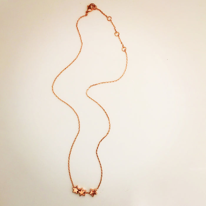 Rose gold tiny stars necklace