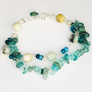Blue gemstones – bracelet