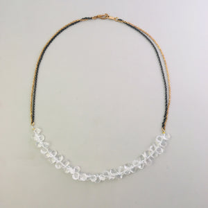 Rock Crystal Ruffle Necklace