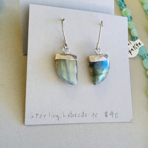 Labradorite Tusk earrings