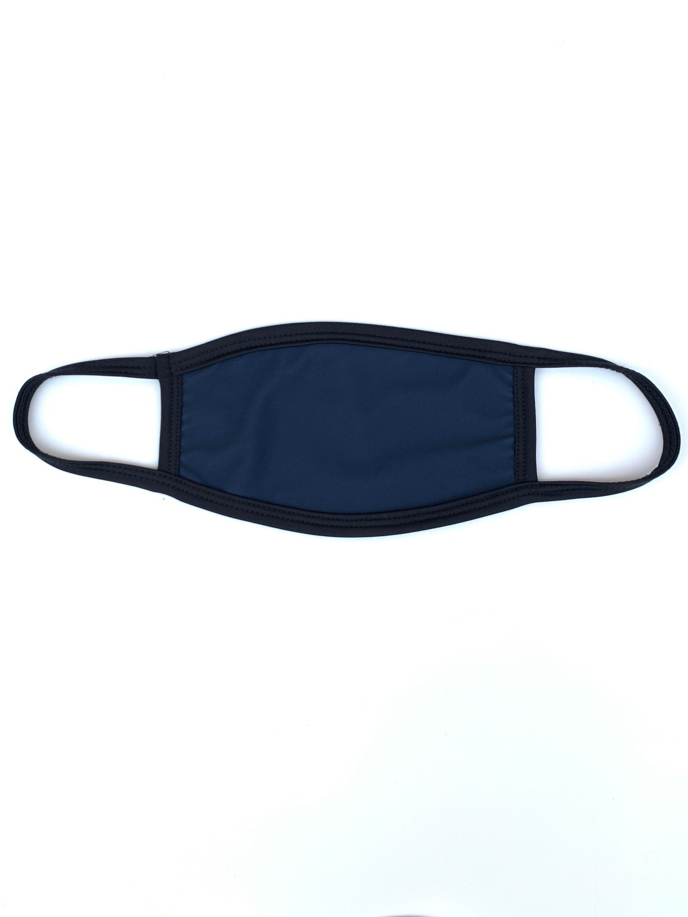 Black Double-Layered Polyester Nylon Face Mask