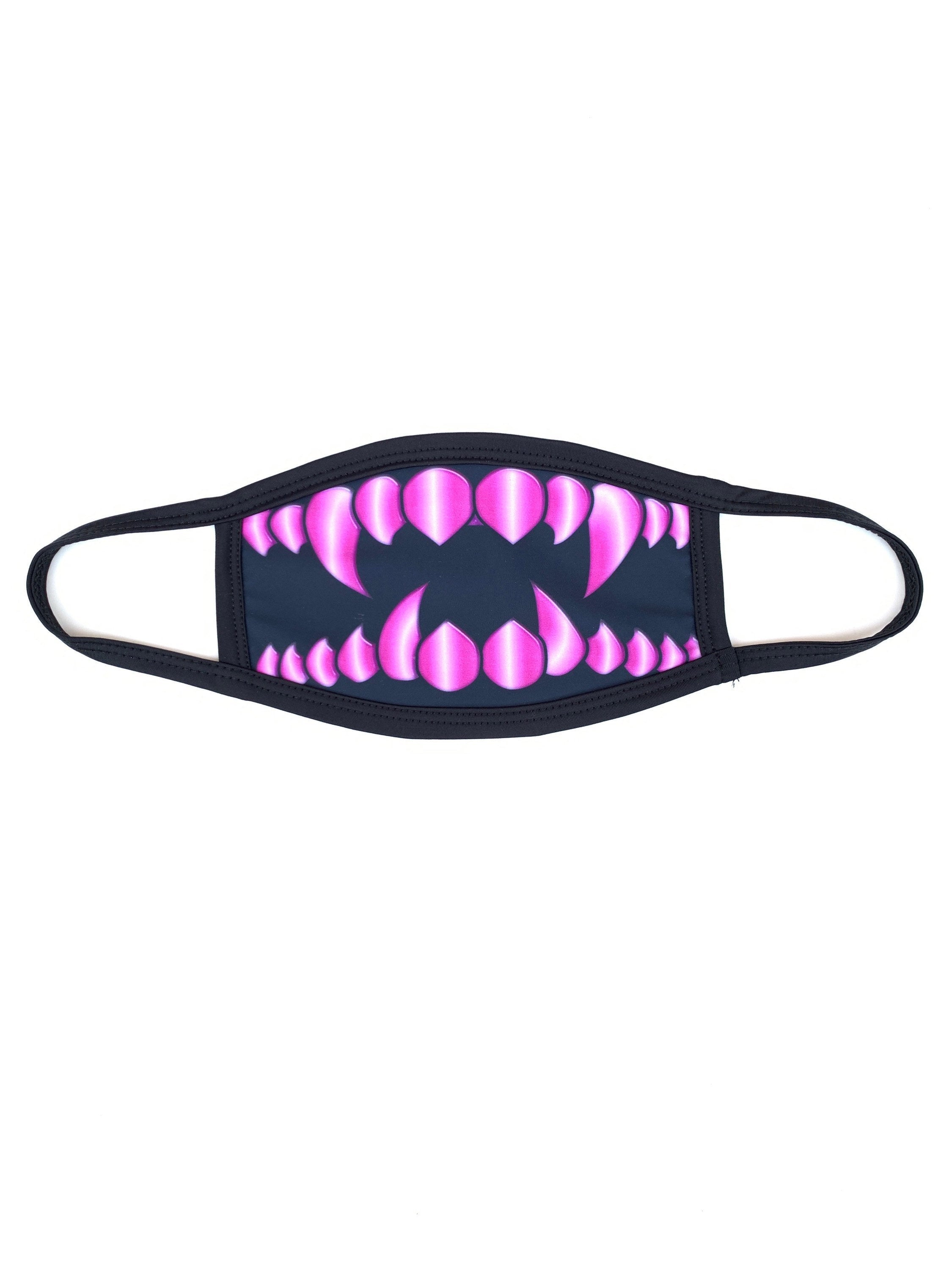 Pink Monster Teeth Dust Mask