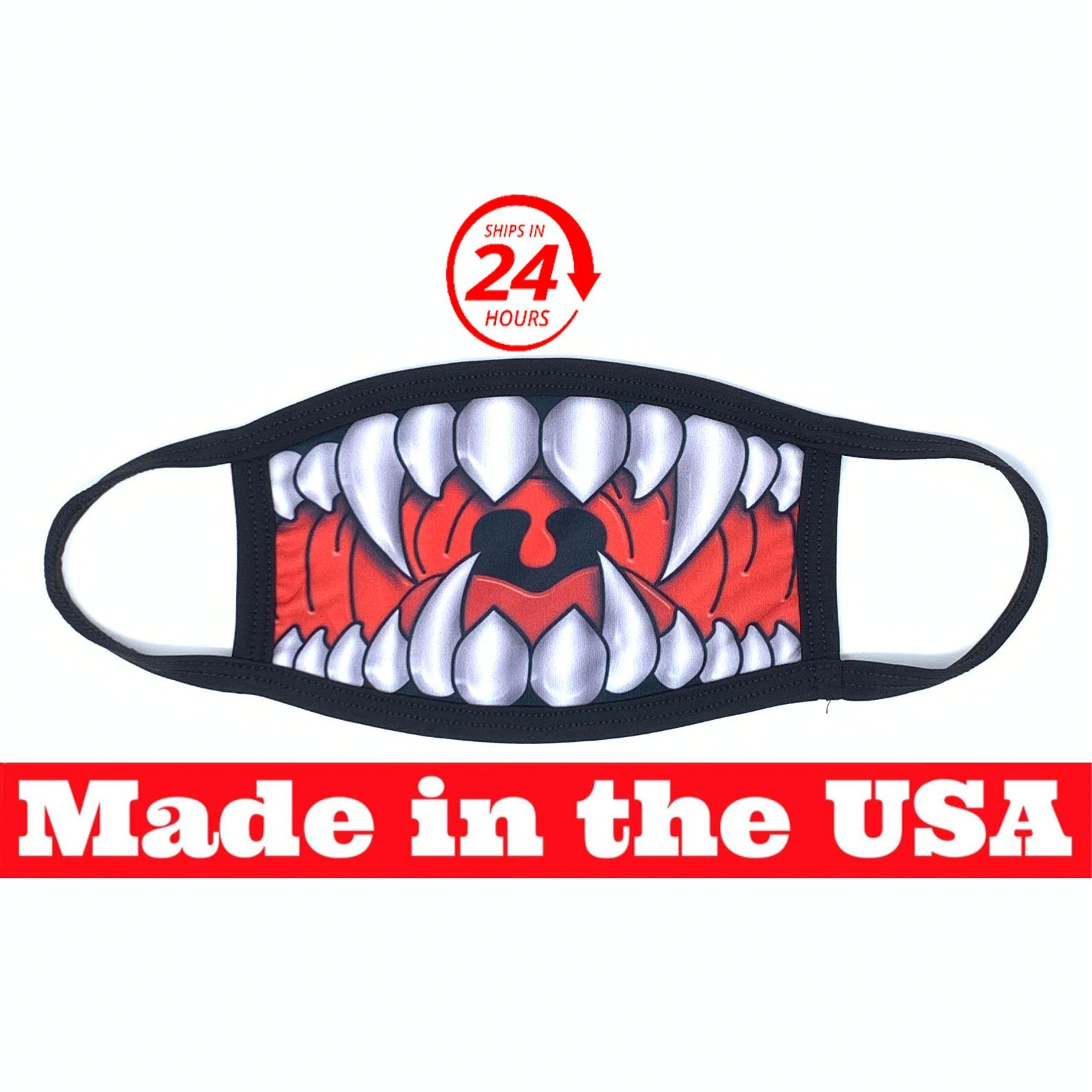 Silver Monster Teeth Dust Mask