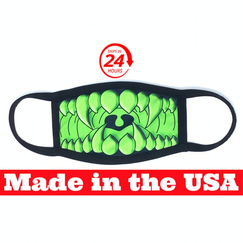 Green Monster Teeth Dust Mask