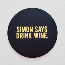 Simon Says Leather Coaster