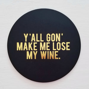 Lose My Wine Leather Coaster