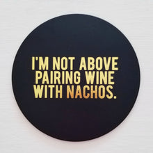 Wine & Nachos Leather Coaster