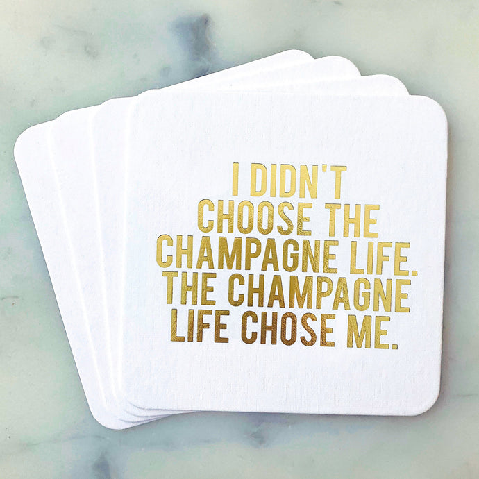Champagne Life Coasters