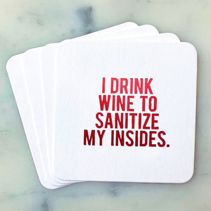 Sanitize My Insides Coasters (NEW)