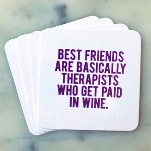 Best Friends Coasters - Funny Gift for Best Friend