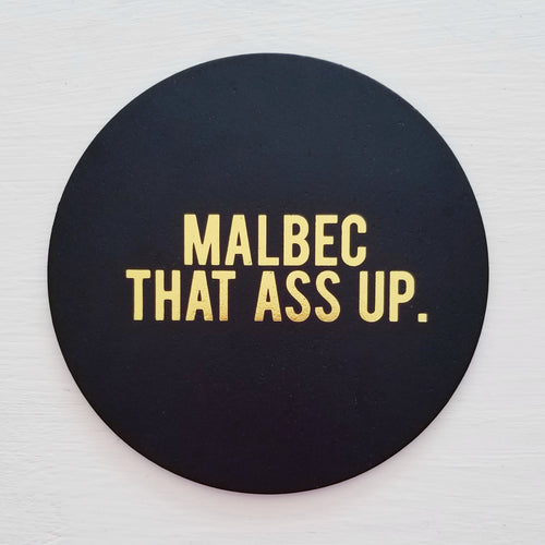 Malbec That Ass Up Leather Coaster (BACK IN STOCK)