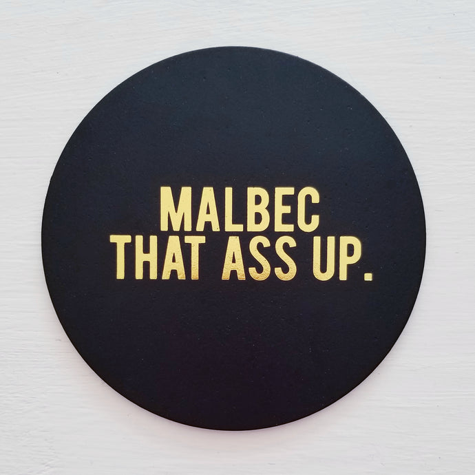 Malbec Leather Coaster