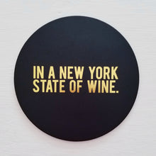 New York State Leather Coaster