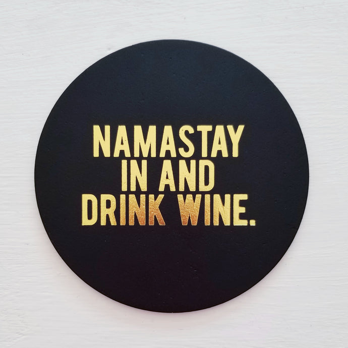 Namaste Leather Coaster