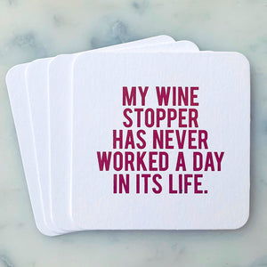 Wine Stopper Coasters