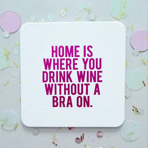 Mother's Day Mixed Set - 8 Assorted Funny Wine Coasters + Gift Bag