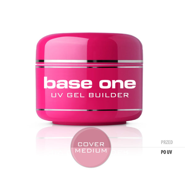 Gel Base One Cover Medium maskujący żel UV do paznokci 30g