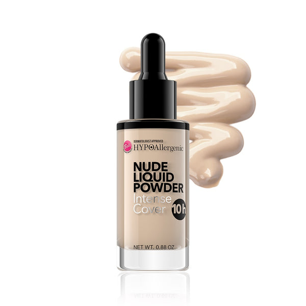 HypoAllergenic Nude Liquid Powder Intense Cover hypoalergiczny puder matujący w płynie 03 Natural 25g