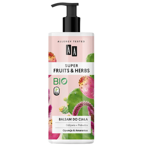 Super Fruits & Herbs balsam do ciała Opuncja i Amarantus 500ml