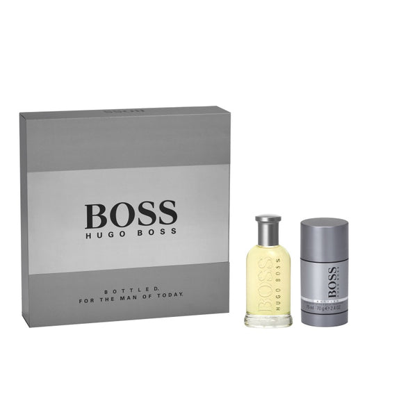 Boss Bottled zestaw woda toaletowa spray 50ml + dezodorant sztyft 75ml